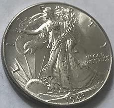 1943 P Silver Walking Liberty WWII ERA Half Dollar MS-63