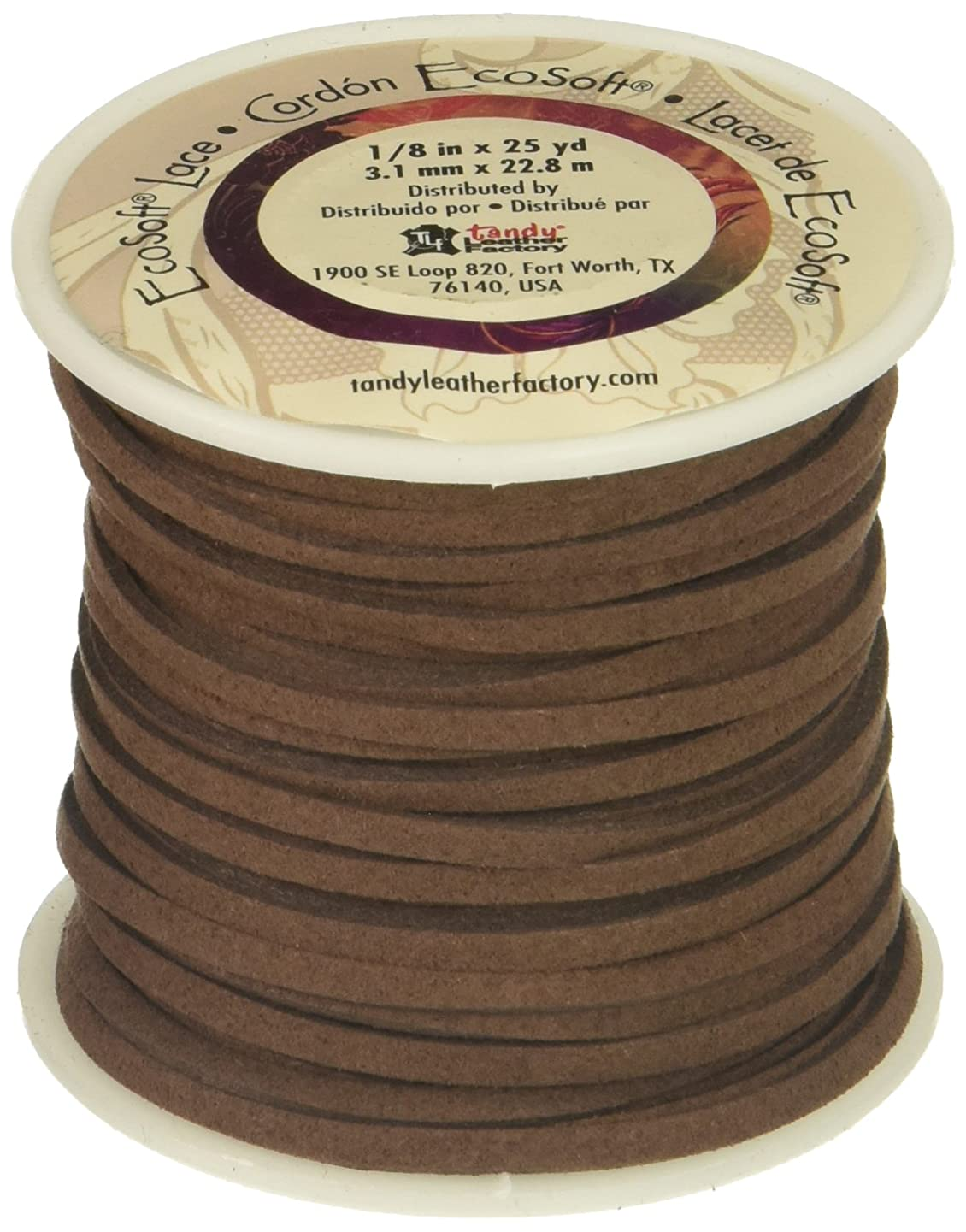 Leather Factory Ecosoft Lace Spool Dark Brown, 1/8