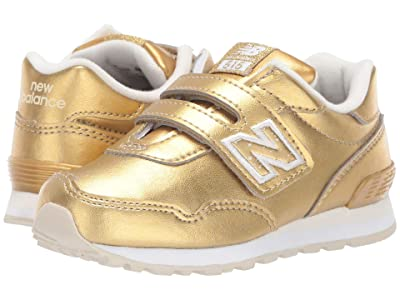 New Balance Kids 515v1 Classic (Infant/Toddler) (Gold Metallic/White) Girls Shoes