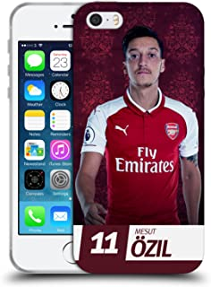 Official Arsenal FC Mesut Özil 2017/18 First Team Group 1 Soft Gel Case Compatible for iPhone 5 iPhone 5s iPhone SE