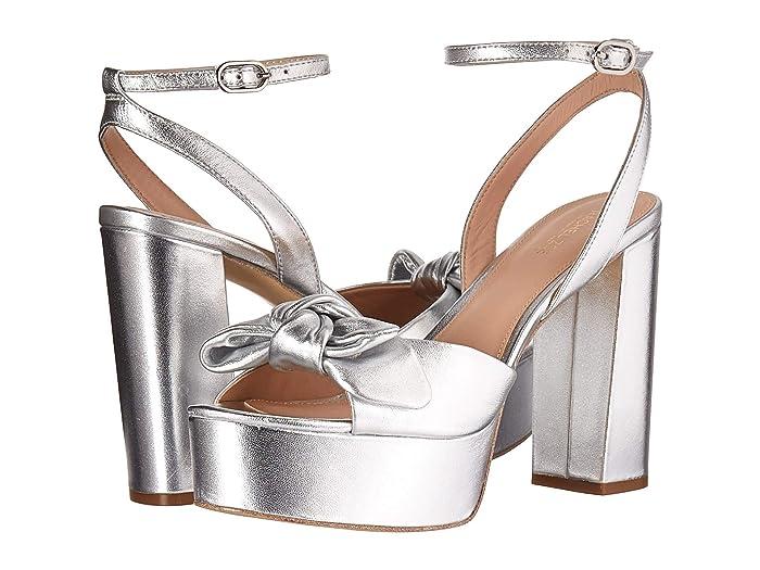 70s Shoes, Platforms, Boots, Heels Rachel Zoe Courtney Platform Sandal Silver Metallic Nappa Womens Shoes $134.10 AT vintagedancer.com