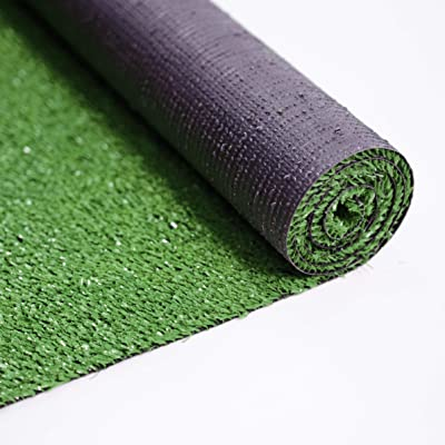 "Ottomanson Evergreen Artificial Turf Area Rug, 6'6""X9'3"", Green"