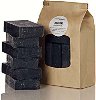 Simplici Activated Charcoal Unscented Bar Soap. Bulk 6 Pack. Palm Oil Free. With 15% Coconut Oil. Acne, Eczema, Psoriasis ...