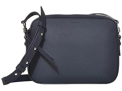 AllSaints Captain Leather SQ Crossbody (Ocean Blue) Handbags