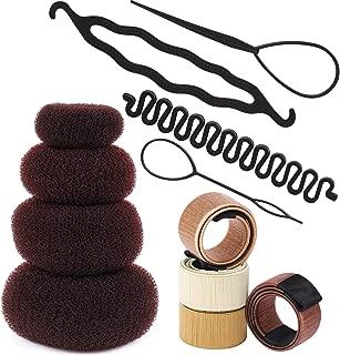 12 Donut Hair Bun Maker Magic Bun Twist Shaper French Hair Braiding Through Tool Topsy Tail Loop Pull Hair Pin Hair Braid Ponytail Maker Styling Tool Hairstyle Accessories Tbestmax