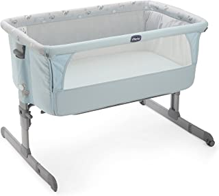 Chicco Next2me - Cuna de colecho con anclaje a cama y 6 alturas, colección 2017, color azul