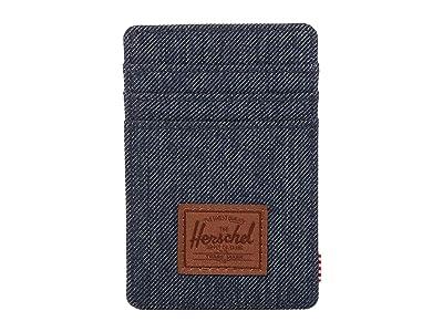 Herschel Supply Co. Raven RFID (Indigo Denim Crosshatch/Saddle Brown) Wallet Handbags
