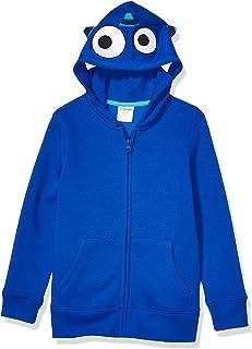 Marca Amazon - Sudaderas con capucha de forro polar con cremallera, unisex, diseño de cebra