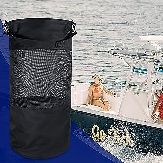 Camping skräptygväska, DEECOZY svart vikbar yacht mosväska, yacht skräpförvaringsväska, för yacht båt utomhus camping
