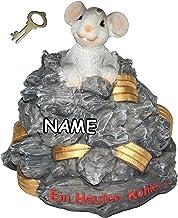 alles-meine.de GmbH Spardose -  EIN Haufen Kohle ...  - mit Schlüssel + Name - stabile Sparbüchse aus Kunstharz - Mäuse Ge...