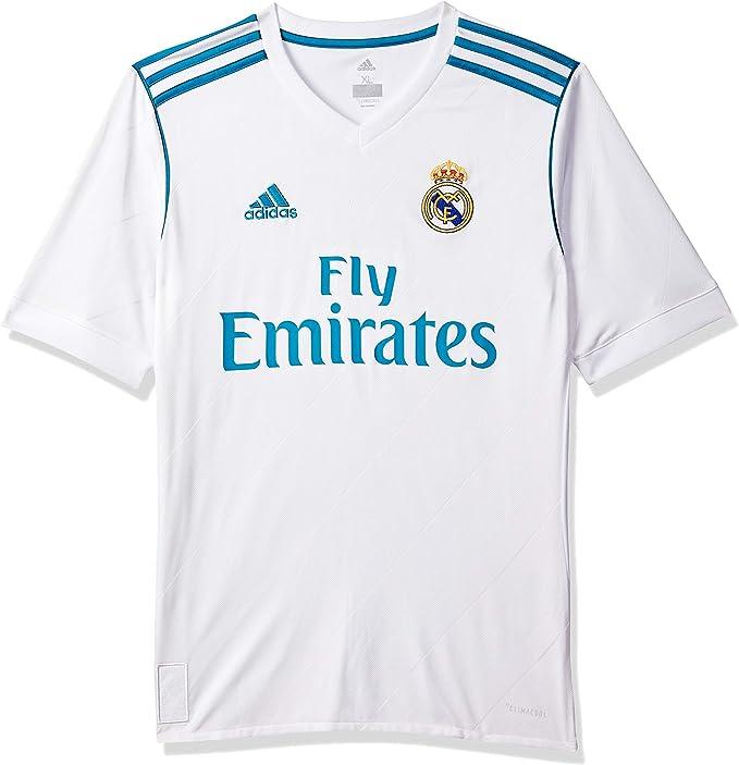 adidas 2017-2018 Real Madrid Home Football Soccer T-Shirt Jersey (Kids)