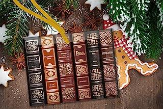 Jane Austen Novels Glass Christmas Ornament