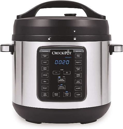 popular Crock-pot discount 8-Quart Multi-Use XL Express Crock Programmable Slow Cooker with Manual Pressure, Boil & Simmer, online sale 8QT, Stainless Steel sale