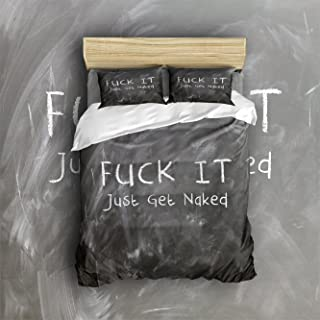4 Piece Bed Sheets Set, Funny Quote