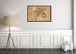 1755 Map 14 British Colonies Very Interesting History of Each Colony in The Margin: GA, South & North Carolina, VA, MD, PA,NJ, NY, New England, NH, CT, RI, New Scotland, Newfoundland 16x24