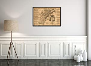 1755 Map 14 British Colonies|Very Interesting History of Each Colony in The Margin: GA, South & North Carolina, VA, MD, PA,NJ, NY, New England, NH, CT, RI, New Scotland, Newfoundland|16x24