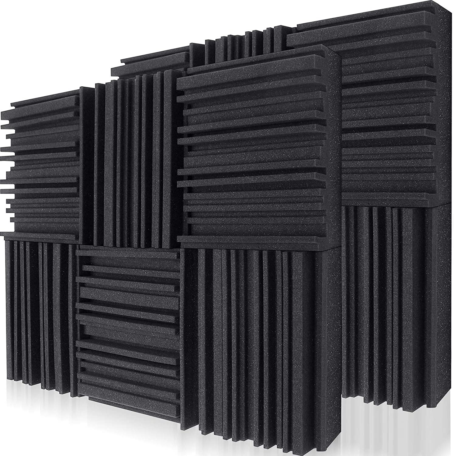 """Taggou 12"""" x 12"""" x 2"""" 12-Pack Accoustic Sound Proof Panels  $12.15 Coupon"""