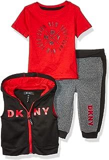 DKNY Baby Boys 3 Piece Fleece Set