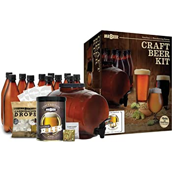 Mr. Beer Complete Beer Making 2 Gallon Starter Kit, Premium Gold Edition, Brown