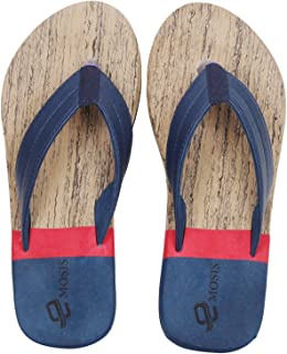 Emosis Men's Flip-Flop Slipper - Latest & Stylish Light Weight Rubber Material - for Casual Outdoor Daily Use Unisex - Multi-Color - 0273M