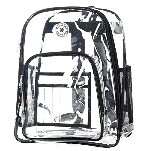Heavy Duty Clear Backpack Durable See Through Student School Bookbag Quality Transparent Workbag Easy Stadium Security