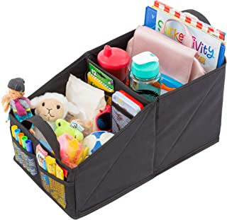 Car Seat Organizer for Front or Backseat with Black Stitching Great for Adults & Kids Featuring 8 Storage Compartments for...