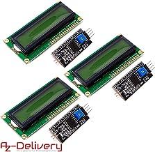 AZDelivery 3 x Modulo Pantalla LCD Display Verde HD44780 1602 con interfaz I2C 16x2 caracteres compatible con Arduino con E-book incluido!