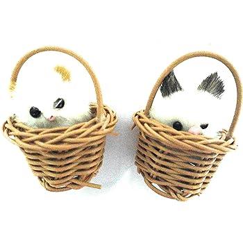 Aayam Design and Solutions Plastic Basket Fridge Magnets (6 x 4.5 x 4.5 cm, Brown)