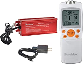 Durablow TR2003 Gas Fire Fireplace On/Off Remote Control Kit + Thermostat + Timer for MILLIVOLT Valve (Input 100-240VAC)