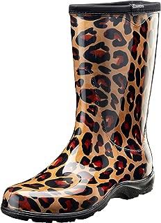 Sloggers Women's Waterproof Rain and Garden Boot with Comfort Insole (6, Leopard)