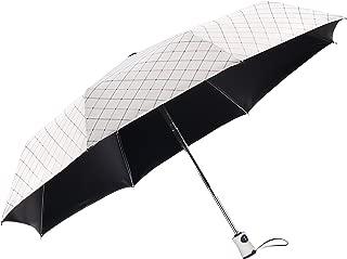 Rainbrace UV Sun Umbrella Compact Folding Travel Umbrella Auto Open and Close for Windproof, Rainproof & 99% UV Protection Parasol with Black Anti-UV Coating