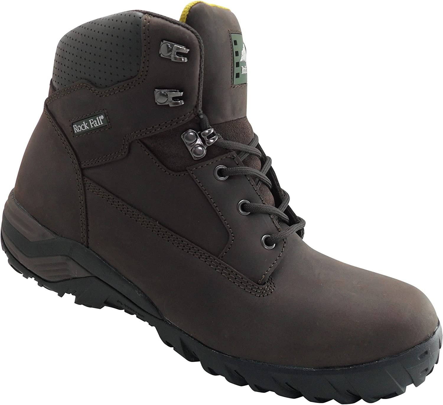 Rock Fall Flint Premium Brown Leather Metal Free Composite Toe Safety Boots - RF440B