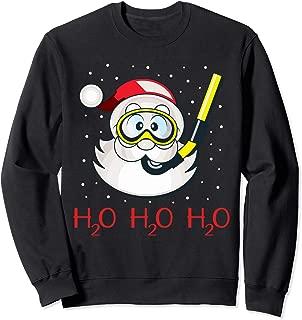 Diving Santa H2O H2O H2O funny Christmas Gift Sweatshirt