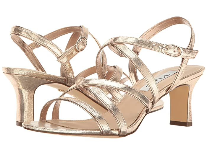 60s Shoes, Boots | 70s Shoes, Platforms, Boots Nina Genaya TaupeFairy Dust Reflective Suedette High Heels $78.95 AT vintagedancer.com