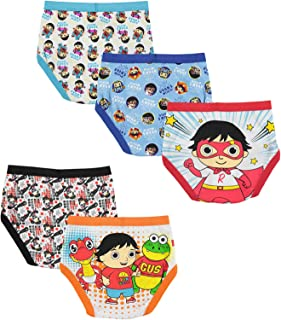 Handcraft Boys BUP1151 Ryan's World Boys 5 Pack Brief Briefs - Multi