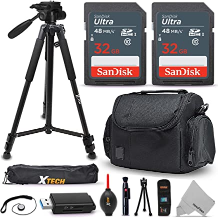 128gb SD Memory Professional Accessory Kit for Sony a6400 a6500 a6300 a5100 a5000 Alpha a7 II a7R Case More a7R II a7S II NEX-5T RX10 IV DSC-RX10 III SLT-A57 A58 A65V A77V A99V Cameras Tripod