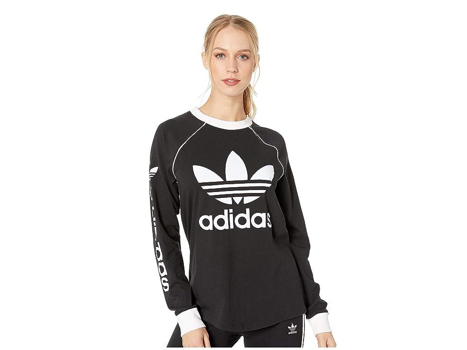 cfed24311aa UPC 191036871990 product image for adidas Originals OG Long Sleeve (Black) Women's  Long Sleeve