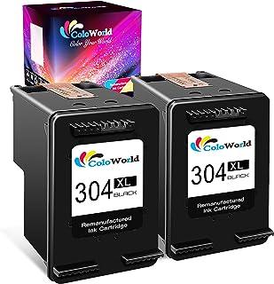 comprar comparacion ColoWorld 304XL Remanufacturado Cartuchos de Tinta 304 XL Negro Compatible con hp Envy 5010 5020 5030 DeskJet 2620 2630 37...