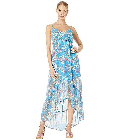 BCBGeneration High-Low Back Bow Dress TCH6206610 (Bright Blue) Women