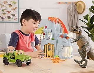 Terra by Battat - T-Rex Big Playset– Electronic Tyrannosaurus Rex Dinosaur Lava Mountain Set with 2 Surprise Dinosaur Toys...