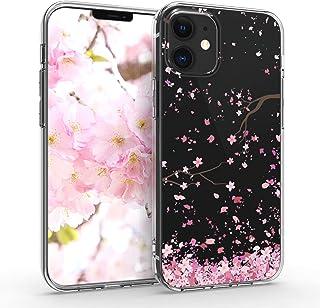 kwmobile telefoonhoesje compatibel met Apple iPhone 12 mini - Hoesje voor smartphone in poederroze/donkerbruin/transparant...