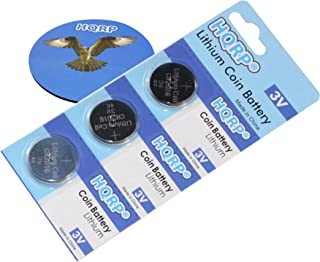 HQRP 3 Pack Lithium Coin Battery Compatible with Snark SN-1 SN-8 Tuner Plus Coaster