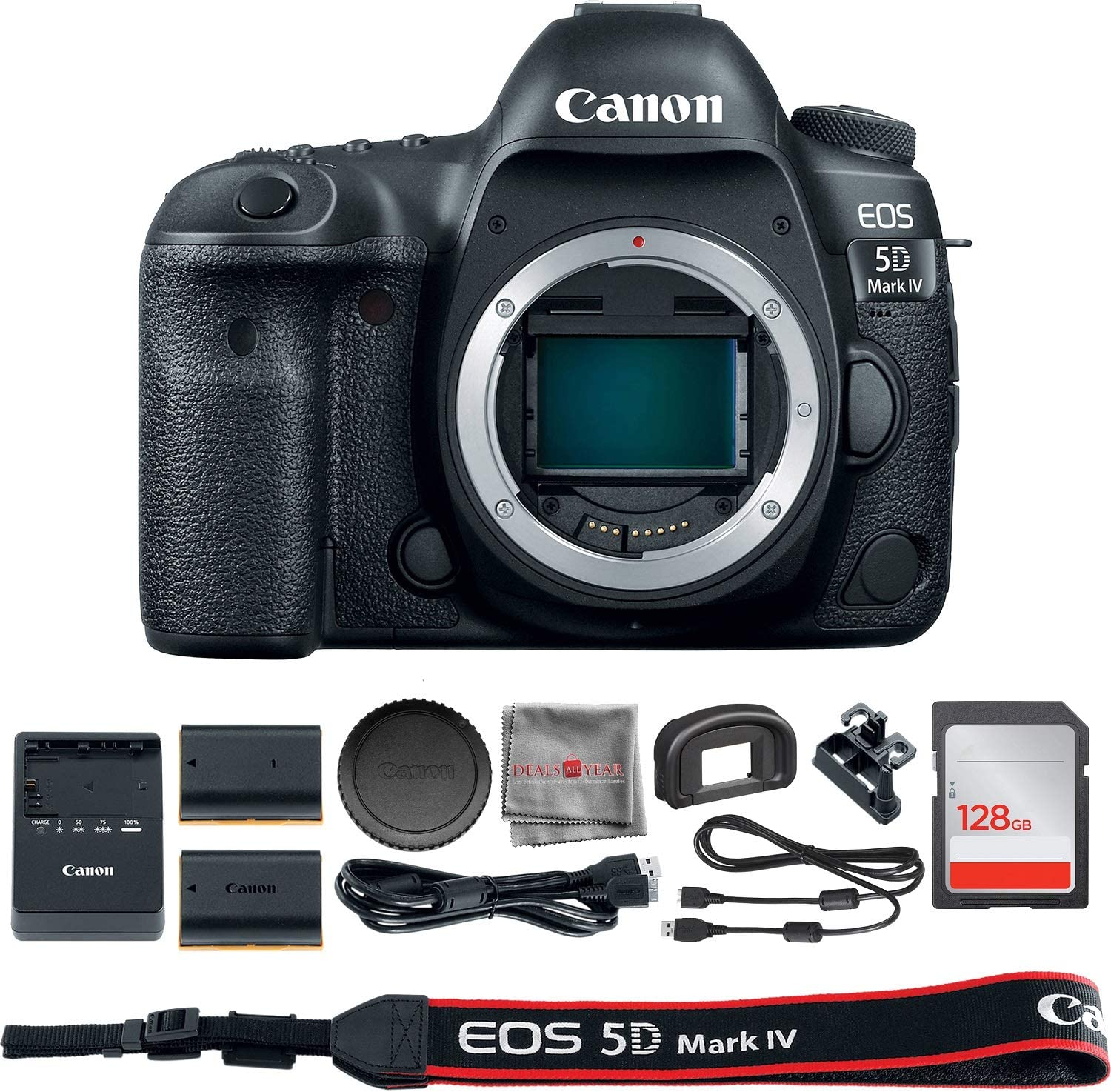 Canon EOS 5D Mark IV DSLR Max 82% OFF Camera + Body Today's only 128GB S Only 1483C002