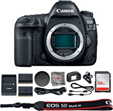 Canon EOS 5D Mark IV DSLR Camera (Body Only)(1483C002) + 128GB SDXC Card + Extra Battery + SD Card Reader & Deals All Year Premium Accessory Bundle