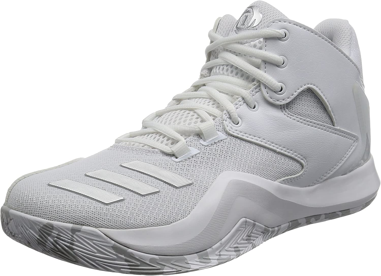 Adidas Performance Mens Derrick pink 773 V Basketball Hi Top shoes - White