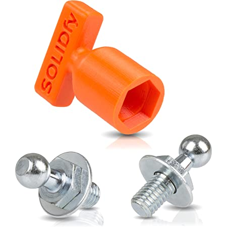 Solidfy 2 X Reinforced Ball Pins For Gas Spring Tailgate 10 Mm Ball M8 Thread Auto