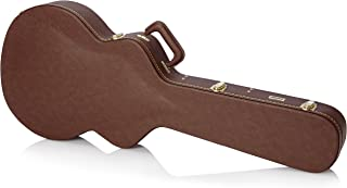 Gator Cases Deluxe Hard-Shell Wood Case for 335 Semi-Hollow Guitars; Brown Exterior (GW-335-BROWN)