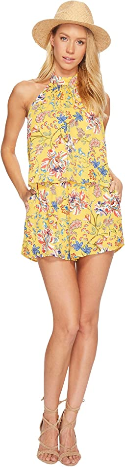 Kelly Pacific Bloom Romper Cover-Up