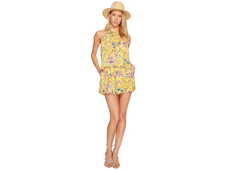 L*Space Kelly Pacific Bloom Romper Cover-Up (Sunshine Gold) Women
