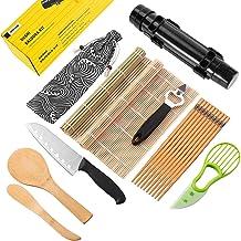 Sushi Making Kit - All In One Sushi Bazooka Maker With Sushi Knife,2 x Bamboo Mats,5 x Bamboo Chopsticks,Avocado Slicer,Pa...